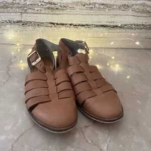ERAM Leather Sandals Tan Size 38 Bought in France
